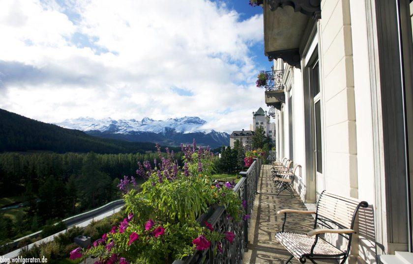Terasse Grandhotel Kronenhof Pontresina