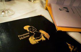 Menükarte Restaurant Fromme Helene Wien
