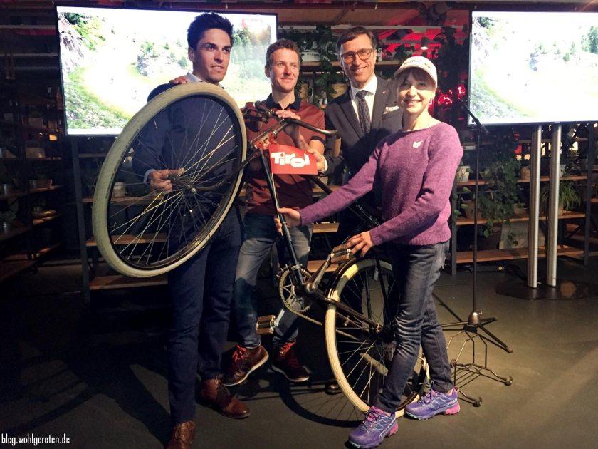 Sportler Rohregger, Kreiner, Eiter und Josef Magreiter / Tirolwerbung