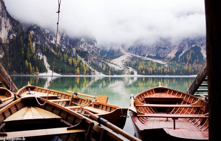 Boote am Pragser Wildsee - Südtirol
