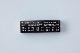 Streichholzschachtel Widder Hotel Zürich