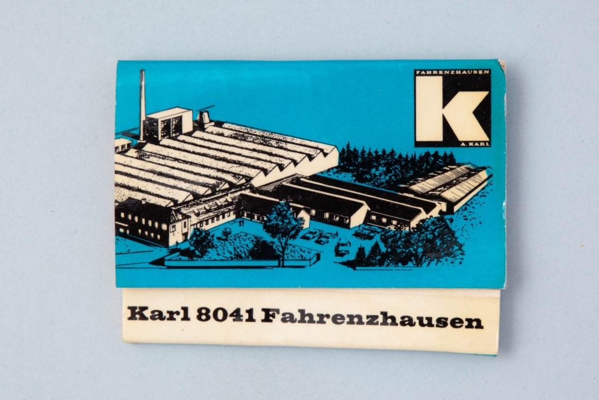 Streichholzschachtel Karl Fahrenzhausen