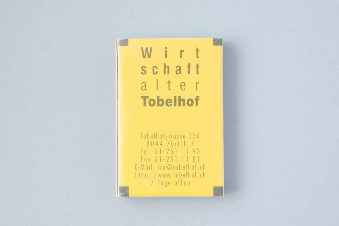 Streichhölzer alter Tobelhof Zürich
