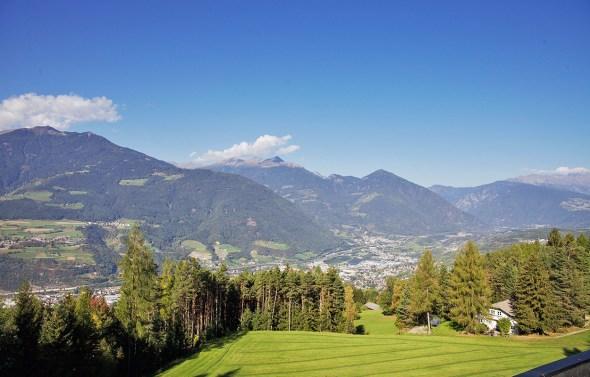 Blick auf Brixen vom My Arbor