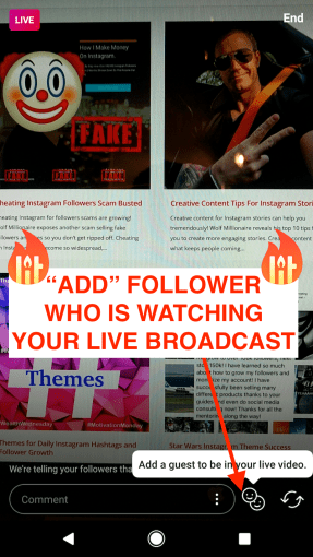 Split Screen LIVE Instagram Stream   Wolf Millionaire Blog split screen add guest Instagram