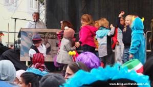 Zwischen den Auftritten gehörte die Bühne den Kleinen