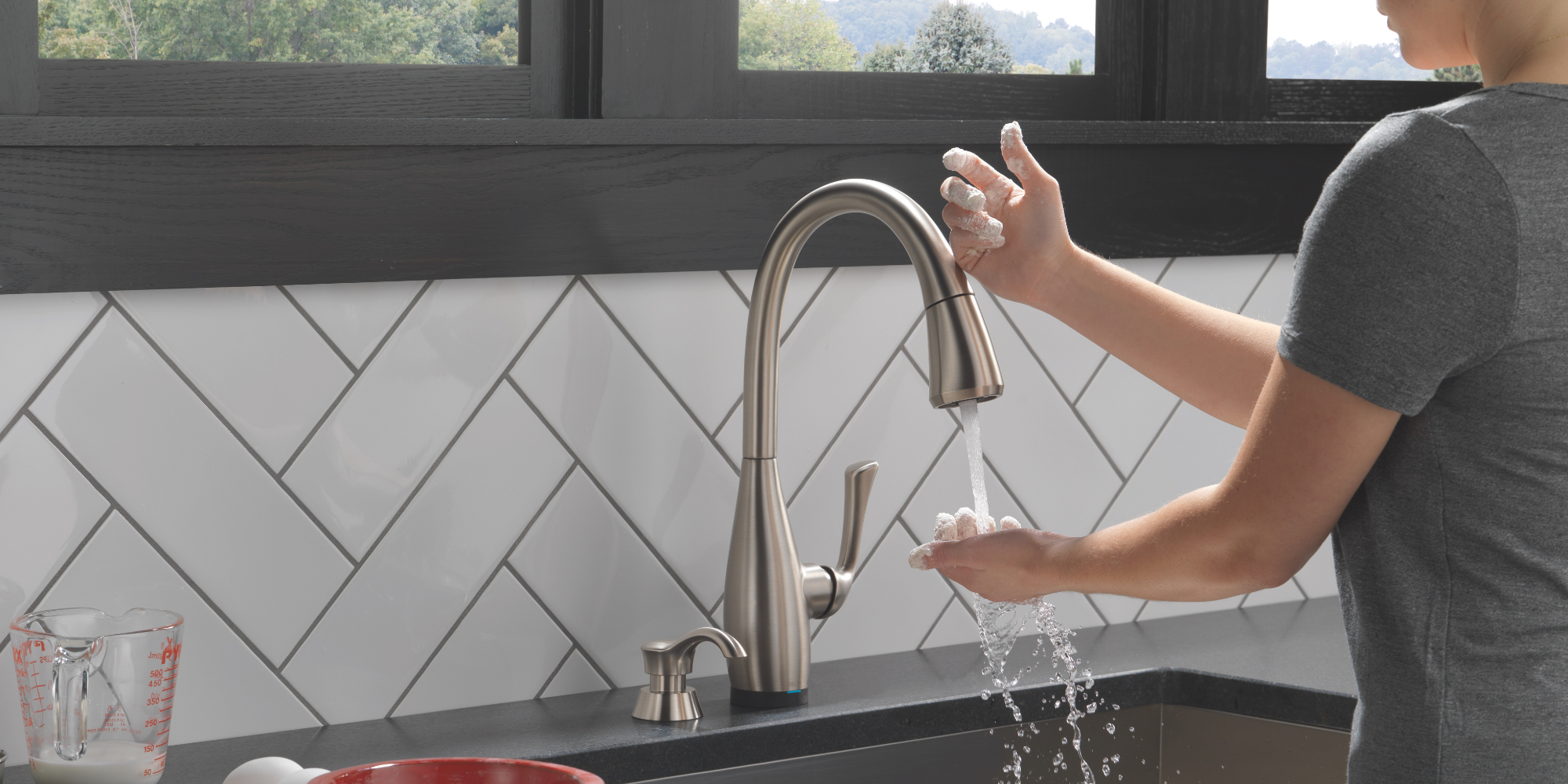 making hygienic faucet and sink choices