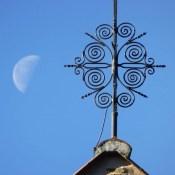 Mond und Spiralen