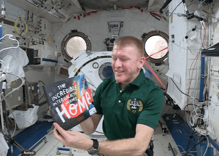 Tim Peake reads picture book from the International Space Station 2