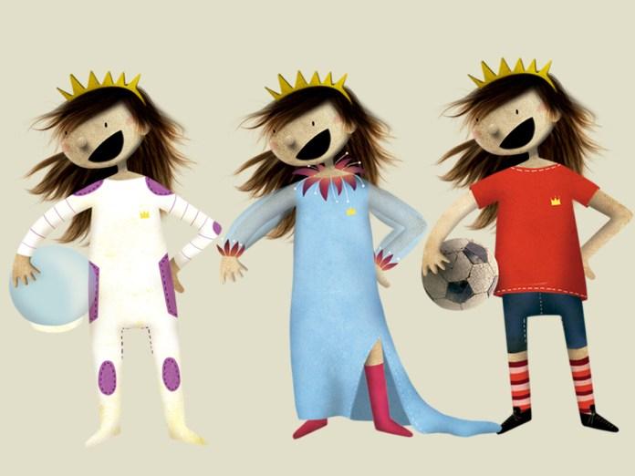 Prinzessin Cartoon Skizzen