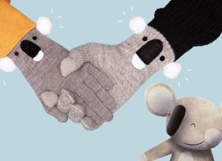koala, gloves, sewing, crafts, kids