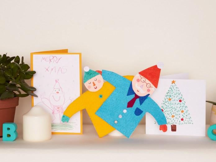 Nave de cartas de Navidad