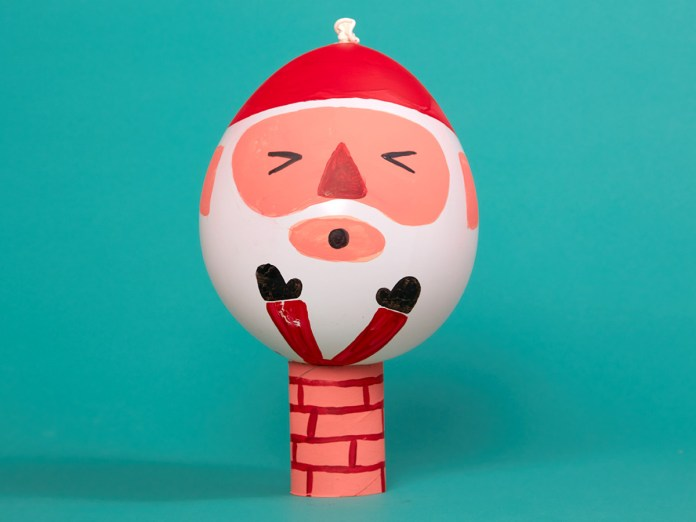 Christmas Craft - Balloon Santa