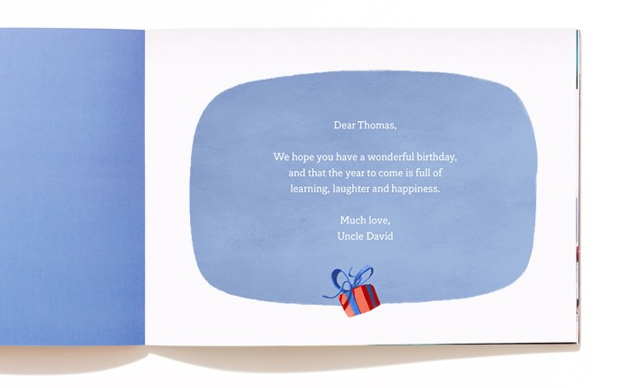 a personalised message for a boy named thomas