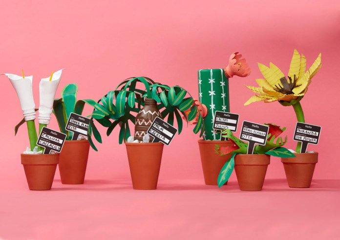 Earth Day Plastic Plants
