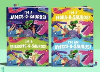 Personalised dinosaur book