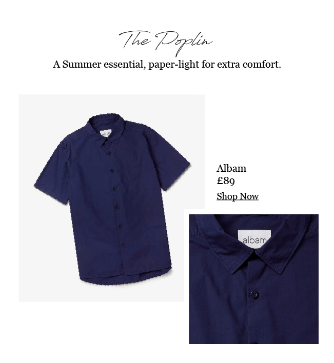ALBAM ROOKE NAVY SHORT SLEEVE SHIRT
