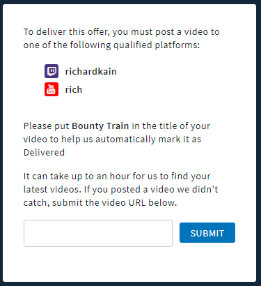 How to Submit a Video Link on Woovit