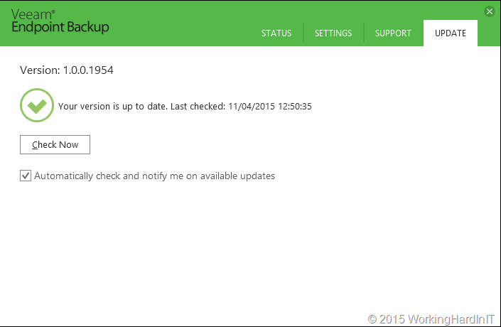 Free VEEAM Endpoint Backup Goes RTM – First Upgrade