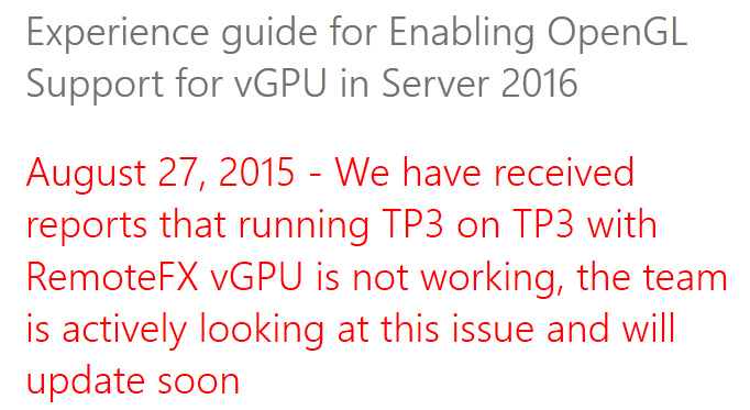 RemoteFX and vGPU Improvements in Windows Server 2016 Hyper-V