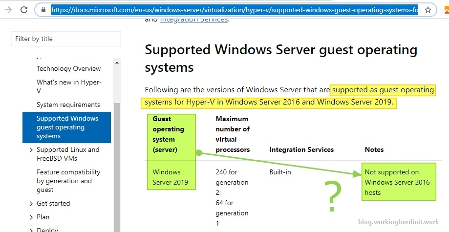 Windows Server 2019 is a supported guest OS on Windows Server 2016