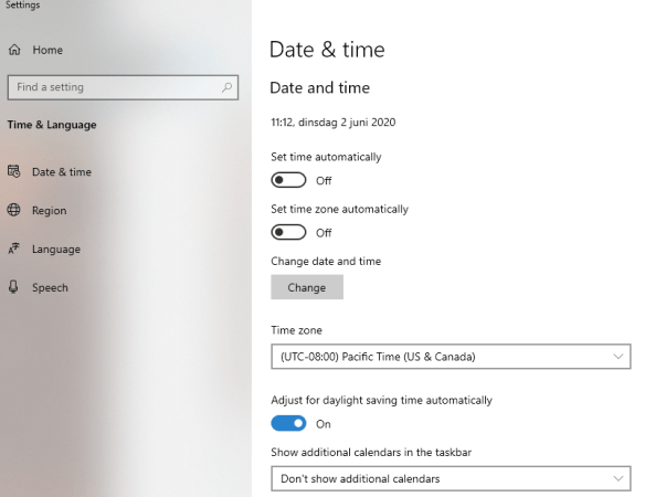 Use PowerShell to set the time zone