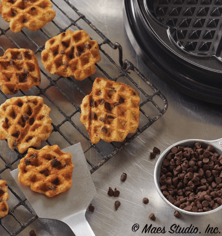 Choc Chip Cookies Waffled with credit