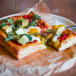 Egg, Cheddar & Harissa Puff Pastry Squares