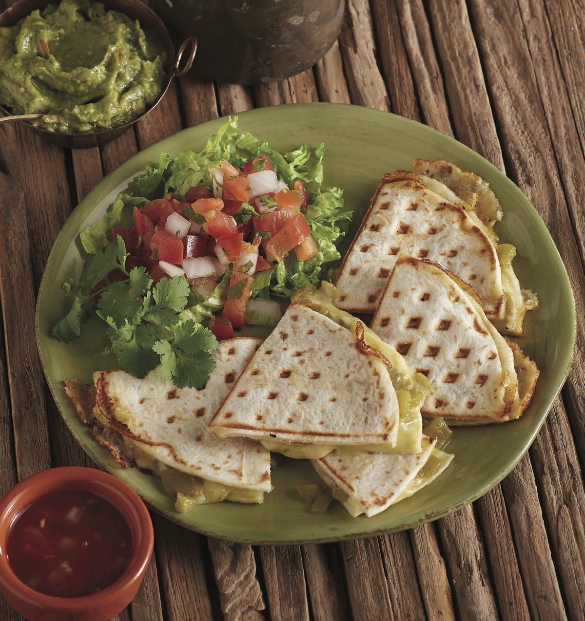 Green Chile Waffled Quesadillas - Workman Publishing