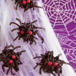 GHOULISH GOODIES' Chocolate Spider Clusters