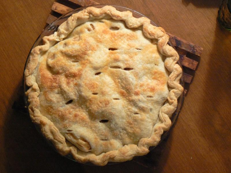 cranberry date pie