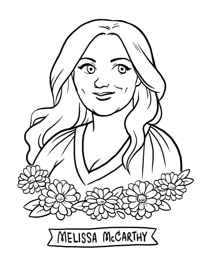 melissa-mccarthy-coloring-page