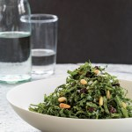 Kale Salad with Currants, Pine Nuts, and Lemon-Thyme Vinaigrette