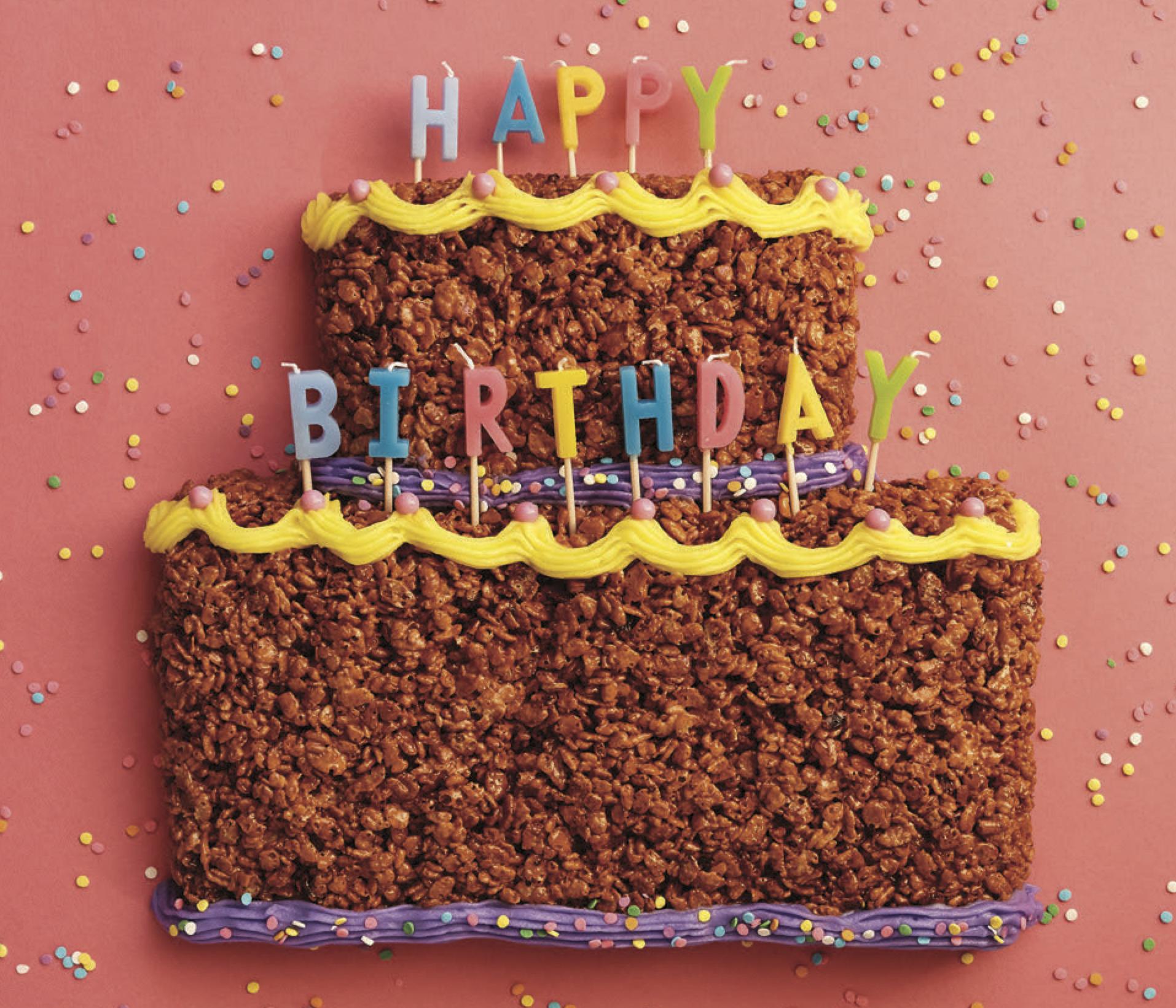 Outstanding Crispy Rice Birthday Cake Workman Publishing Funny Birthday Cards Online Elaedamsfinfo