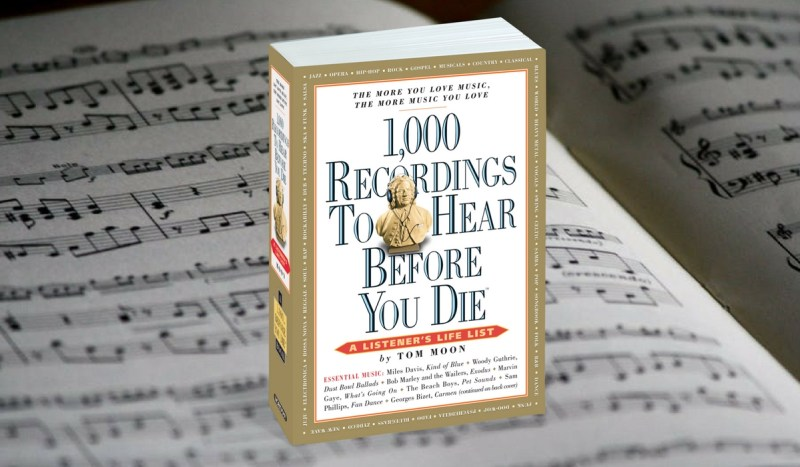 1,000 recording to hear before you die