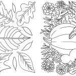 Color-Your-Own Autumn Greeting Card