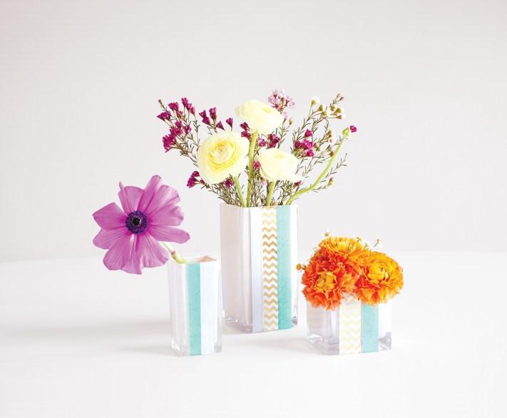 Dollar Store Washi Tape Vases Workman Publishing