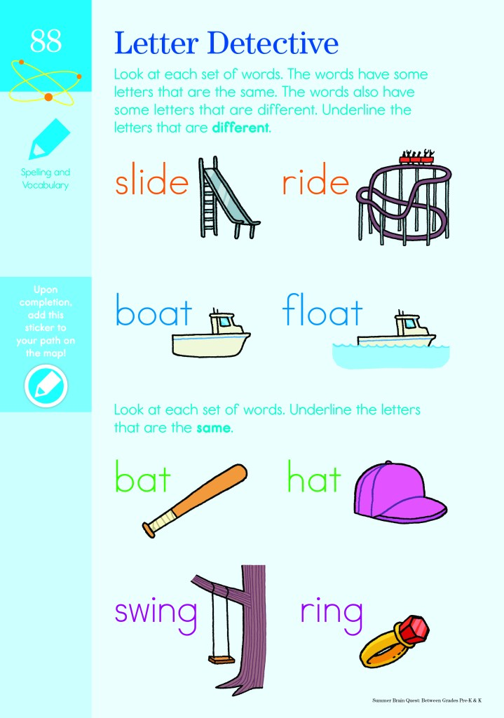 Brain Quest Pre-k word puzzle