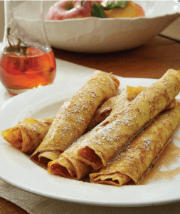 Danish Pancakes With Apple Core Syrup