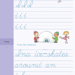 Perfect Your Cursive with This Wintry Sentence! <em>Brain Quest</em> for Grade Two