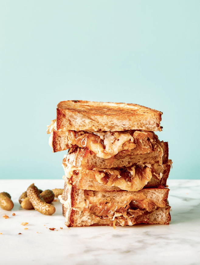 Caramelized Onion Grilled Cheese with Miso Butter