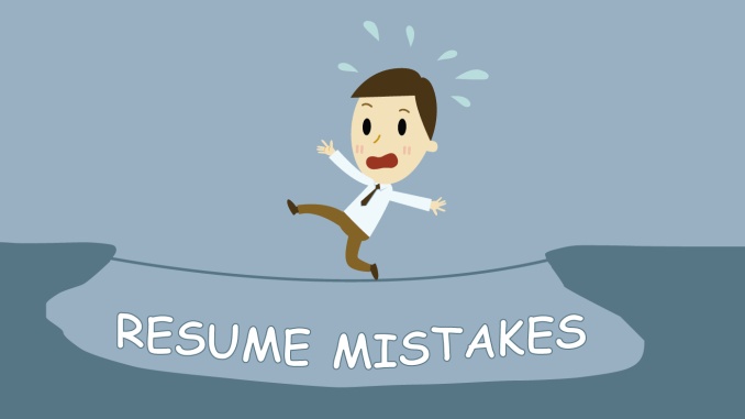 Do Not Make These Resume Mistakes In Future