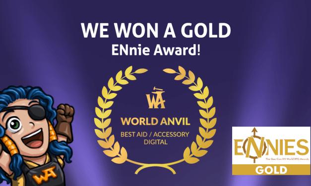 We Won a Golden ENnie for Best Digital Aid/Accessory
