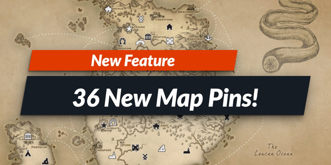 36 New Map Pins! Introducing the Flat Pins Theme!