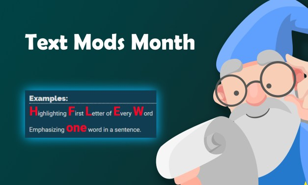 CSS: Big Red Letters (Text Mods Month)