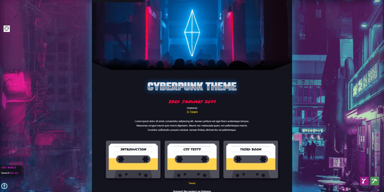"Did anyone say ""New Cyberpunk theme""?"
