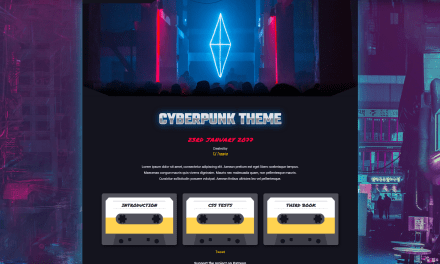 "Did anyone say ""New Cyberpunk theme""?"
