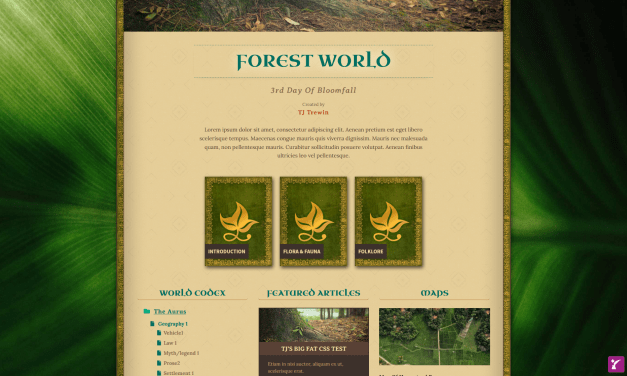 New Elven Forest Theme!