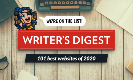 We're in the 2020 Writer's Digest!