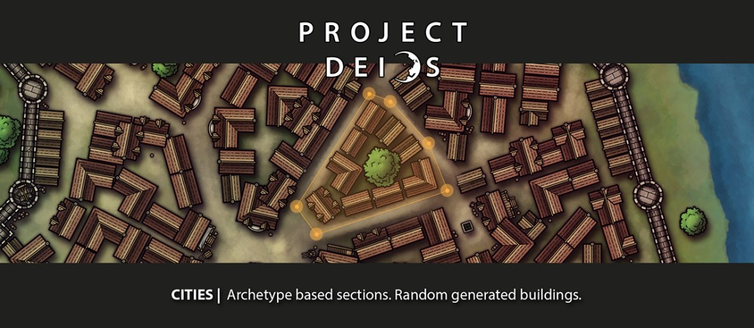 A preview of the upcoming city map creator Project Deios